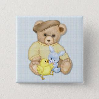 Teddy Boy Blue Button