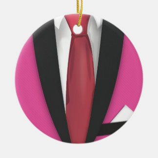 Teddy Boy Suit and Tie Ceramic Ornament