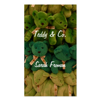 Teddy business Double-Sided standard business cards (Pack of 100)