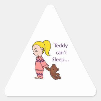 TEDDY CANT SLEEP TRIANGLE STICKER