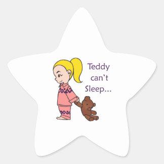 TEDDY CANT SLEEP STAR STICKER