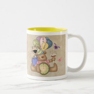 Teddy Celebrates New Year Two-Tone Coffee Mug