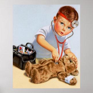 Teddy Checkup Print