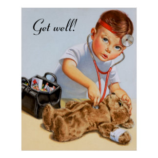 Teddy Checkup Poster