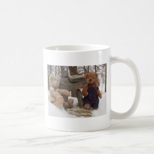 Teddy Couple with Inuksuk Classic White Coffee Mug