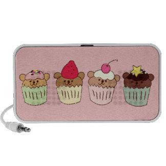 teddy cupcakes doodle speakers