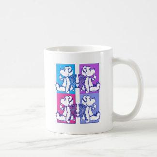 Teddy Foursome Classic White Coffee Mug