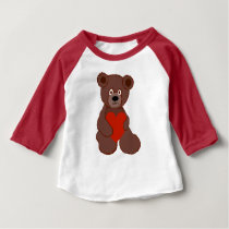 Teddy Has a Heart Baby T-Shirt