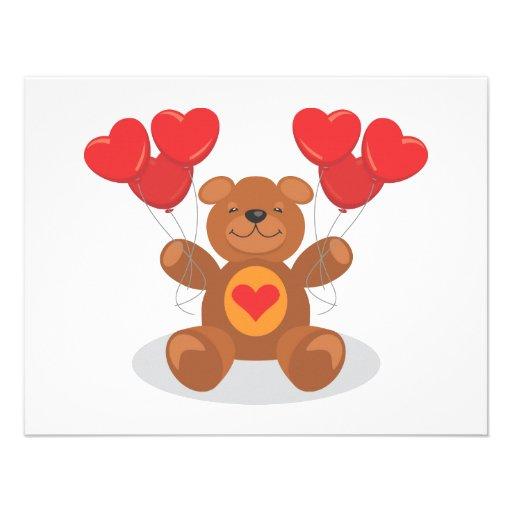 Teddy Heart Announcements