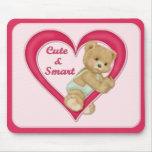 Teddy Heart Mouse Pad