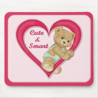 Teddy Heart Mouse Pad