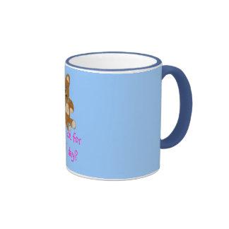 teddy, I duz diz for LUV day? Ringer Coffee Mug