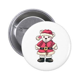 Teddy in Santa Suit Pins