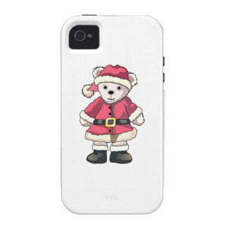 Teddy in Santa Suit Vibe iPhone 4 Covers