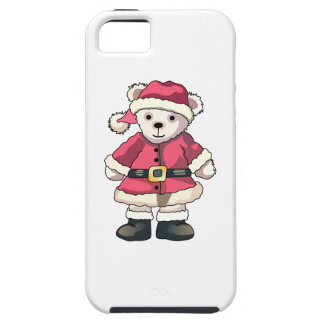 Teddy in Santa Suit iPhone 5 Case