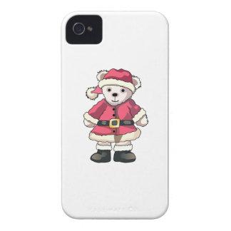 Teddy in Santa Suit iPhone 4 Covers