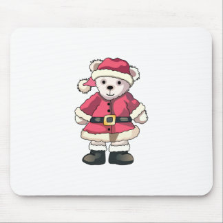Teddy in Santa Suit Mouse Pad