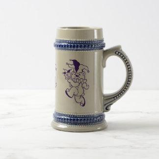 Teddy Jester Purple Ink Beer Stein