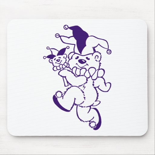 Teddy Jester Purple Ink Mouse Pad
