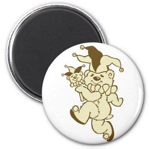Teddy Jester Sepia 2 Inch Round Magnet