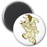 Teddy Jester Sepia Magnets