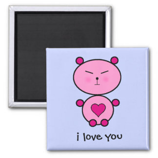 Teddy Love 2 Inch Square Magnet