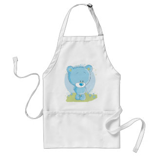 teddy love collection adult apron