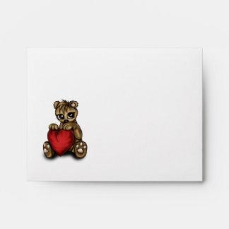 Teddy Love Envelopes