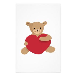 Teddy Love Customized Stationery