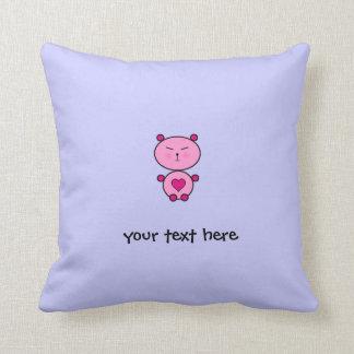 Teddy Love Throw Pillow