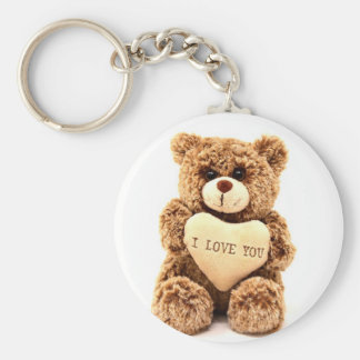Teddy Love Valentine's Day Greeting Card Soft Toy Keychain