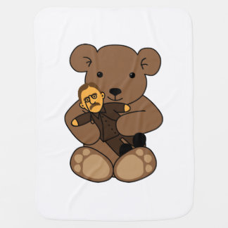 Teddy Love Stroller Blanket