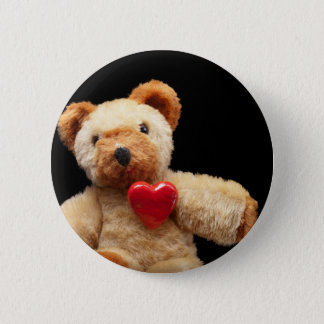 Teddy lover button