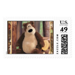 Teddy Loves Trees Postage Stamps