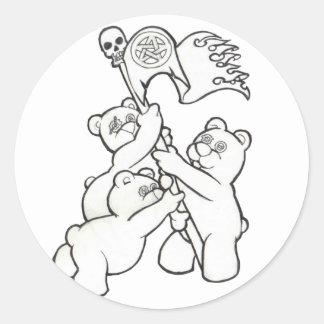 Teddy Metal Iwo Jima Stickers