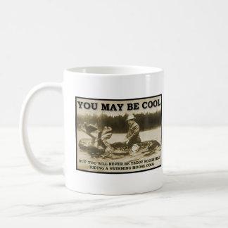 Teddy on a Moose Funny Mug