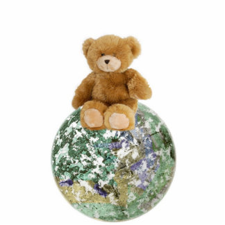 Teddy on Planet Photo Cut Out