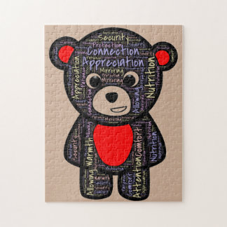 Teddy reminds us what all kids really need jigsaw puzzle