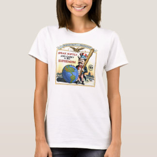 Teddy Roosevelt 1904 Campaign (Ladies LIght Shirt) T-Shirt
