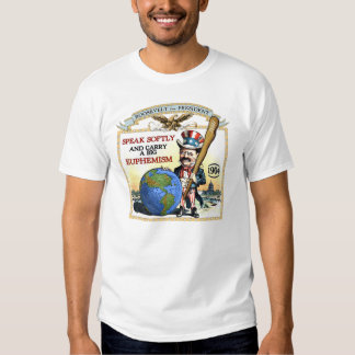 Teddy Roosevelt 1904 Campaign (Men's LIght Shirt) Tshirts