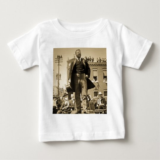 Teddy Roosevelt 1905 Stereoview Card Vintage Baby T-Shirt