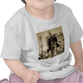 Teddy Roosevelt 1905 Stereoview Card Vintage Tshirt