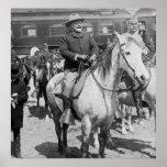 Teddy Roosevelt a caballo en Yellowstone Impresiones