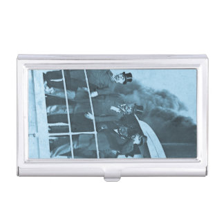 Teddy Roosevelt Aboard Steamer Tashmoo Vintage Case For Business Cards