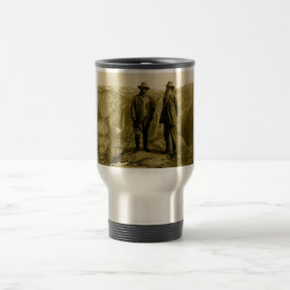 Teddy Roosevelt and John Muir at Glacier Point 15 Oz Stainless Steel Travel Mug