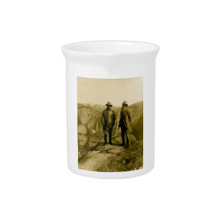 Teddy Roosevelt and John Muir at Glacier Point Beverage Pitcher