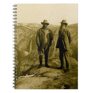 Teddy Roosevelt and John Muir at Glacier Point Spiral Notebook