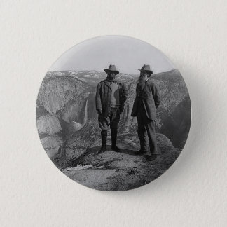 Teddy Roosevelt and John Muir  in Yosemite Button