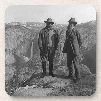 Teddy Roosevelt and John Muir  in Yosemite Beverage Coasters