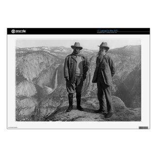 Teddy Roosevelt and John Muir  in Yosemite Laptop Skin